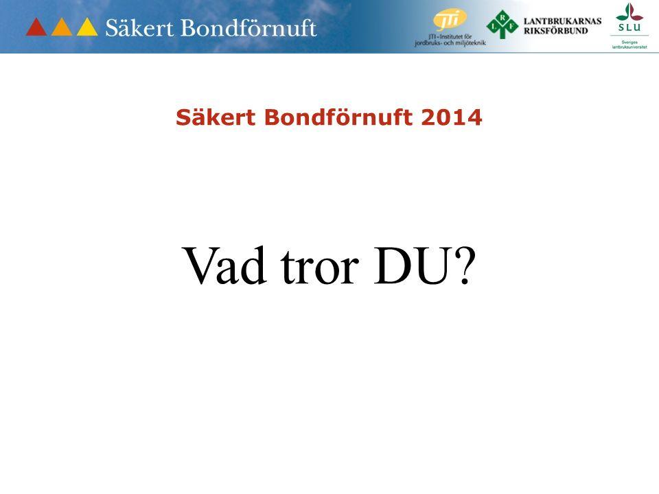 Säkert Bondförnuft 2014 Vad tror DU?