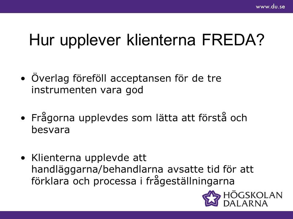 Hur upplever klienterna FREDA.