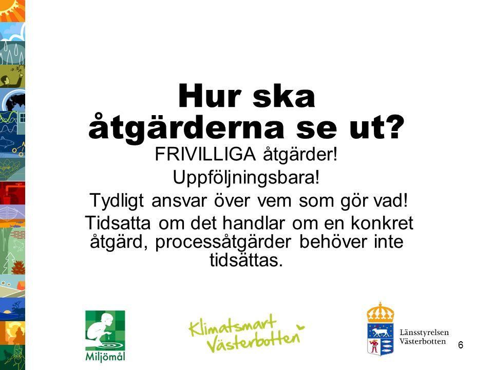 17 Växthusgaser i Västerbotten Fördelning av växthusgaser av totala utsläpp omräknat till CO2e