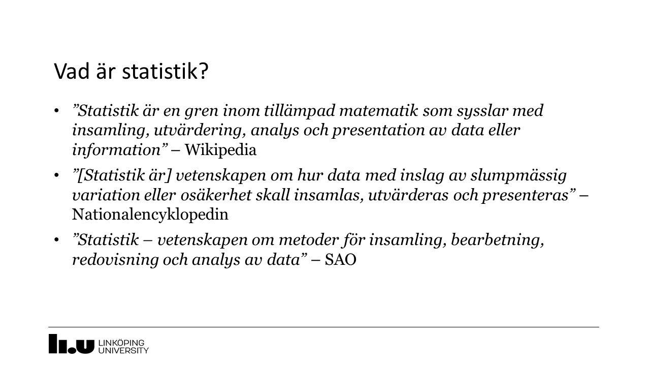 Vad är statistik.