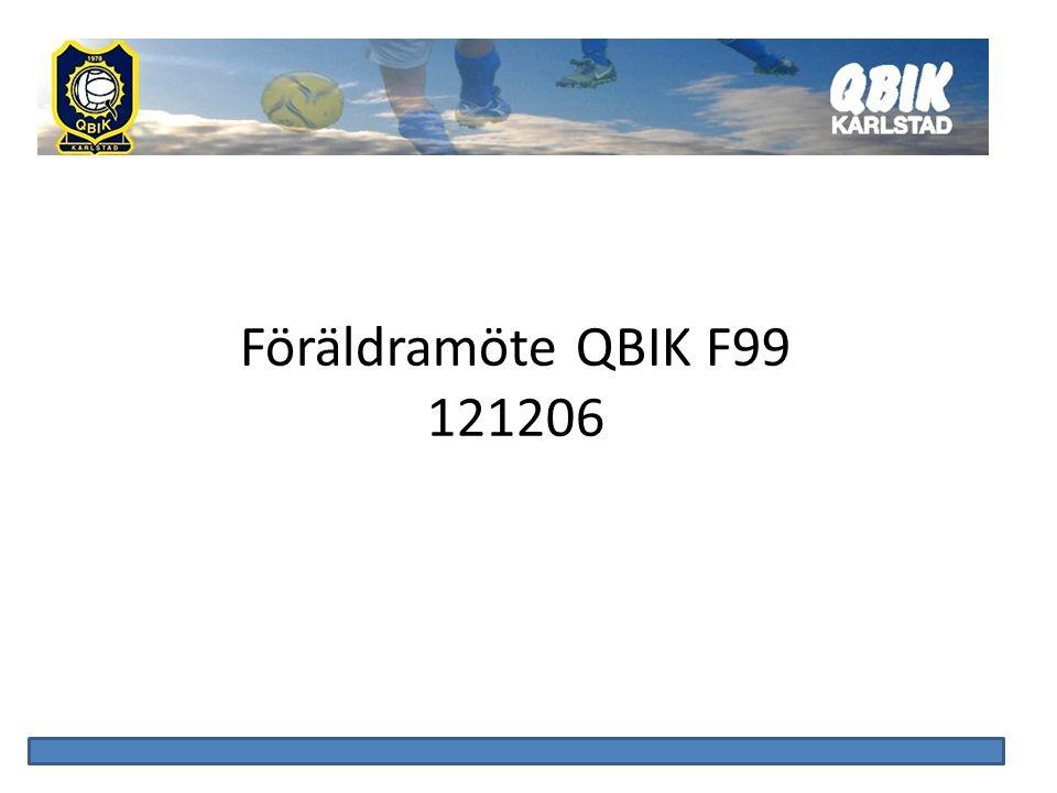 Föräldramöte QBIK F99 121206