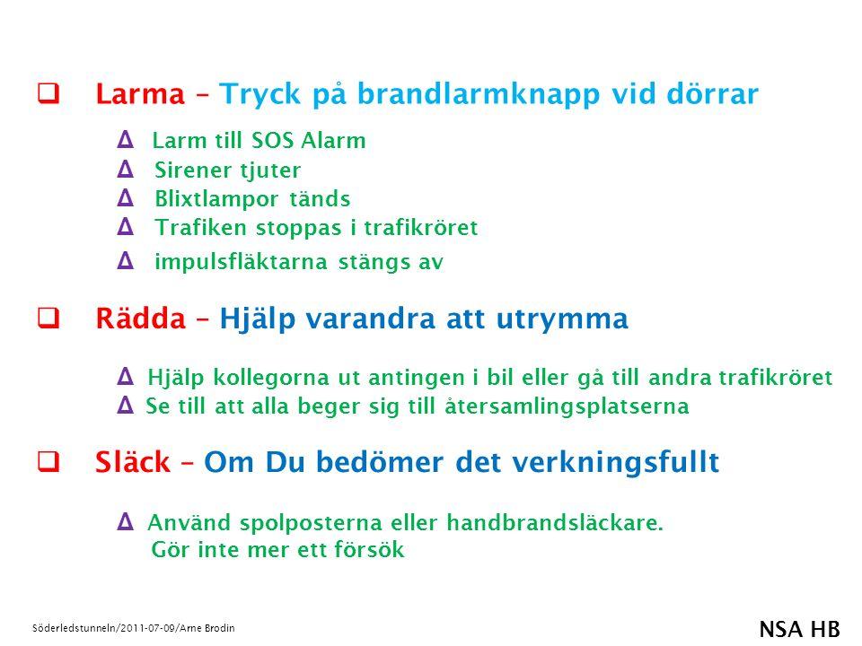 NSA HB Söderledstunneln/2011-07-09/Arne Brodin