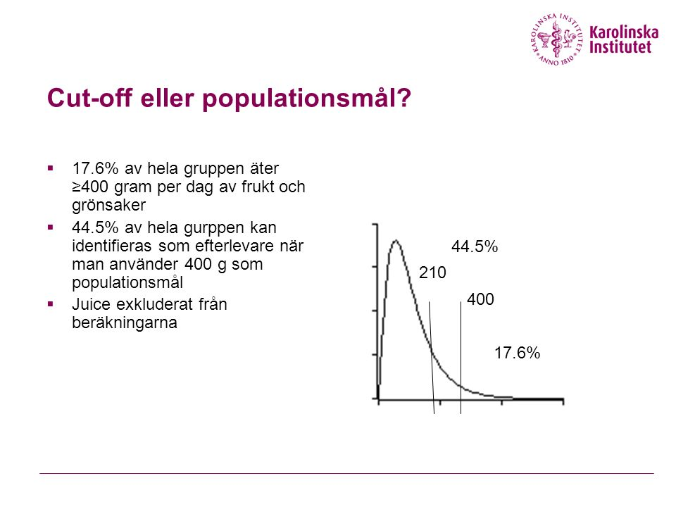 Cut-off eller populationsmål.