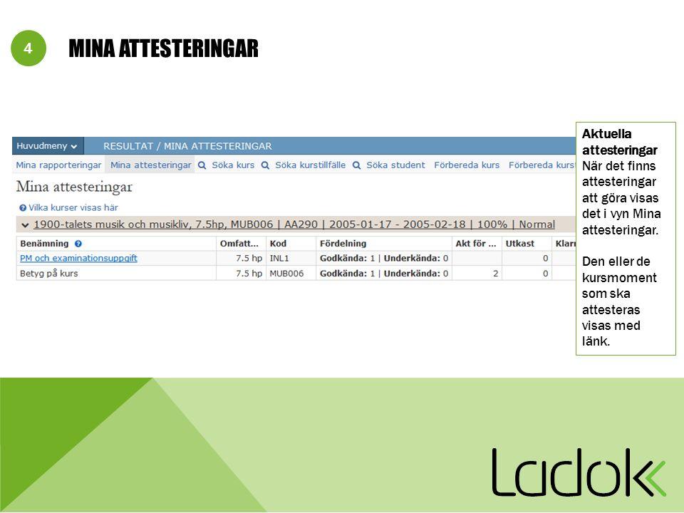 E-postmeddelande till examinator/attestant