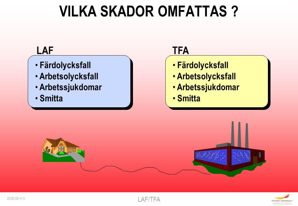 LAF/TFA 2008-08 nr 3 VILKA SKADOR OMFATTAS .