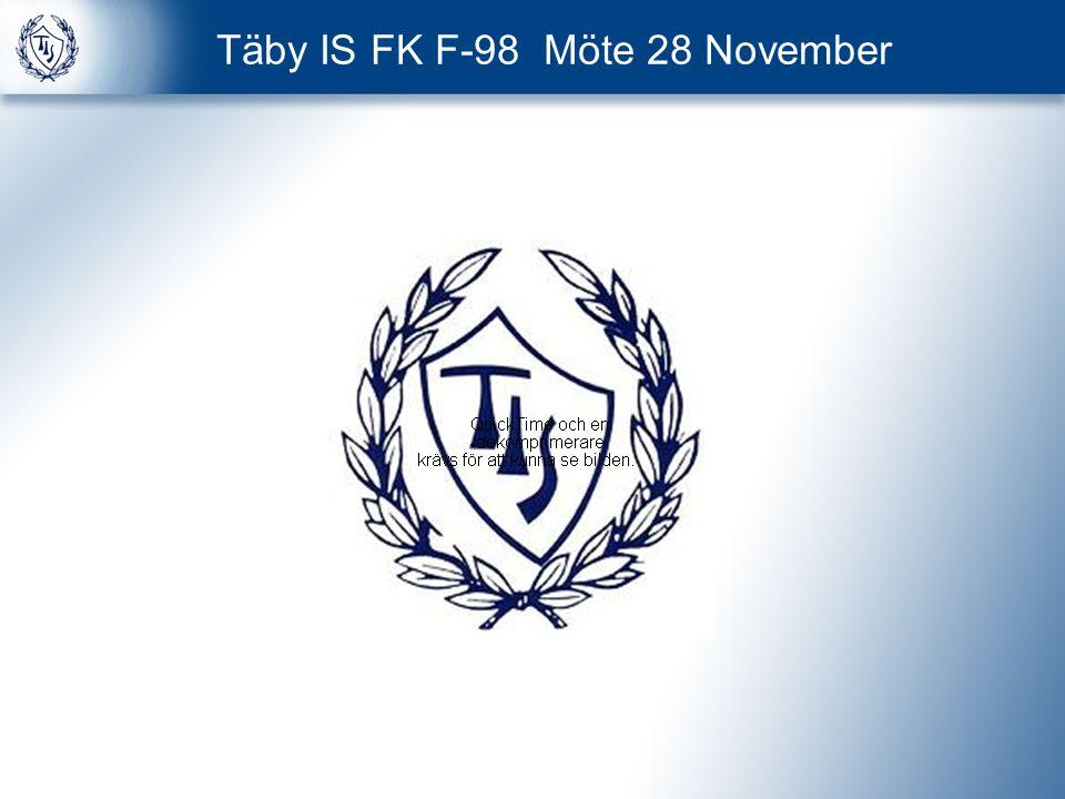 Täby IS FK F-98 Möte 28 November