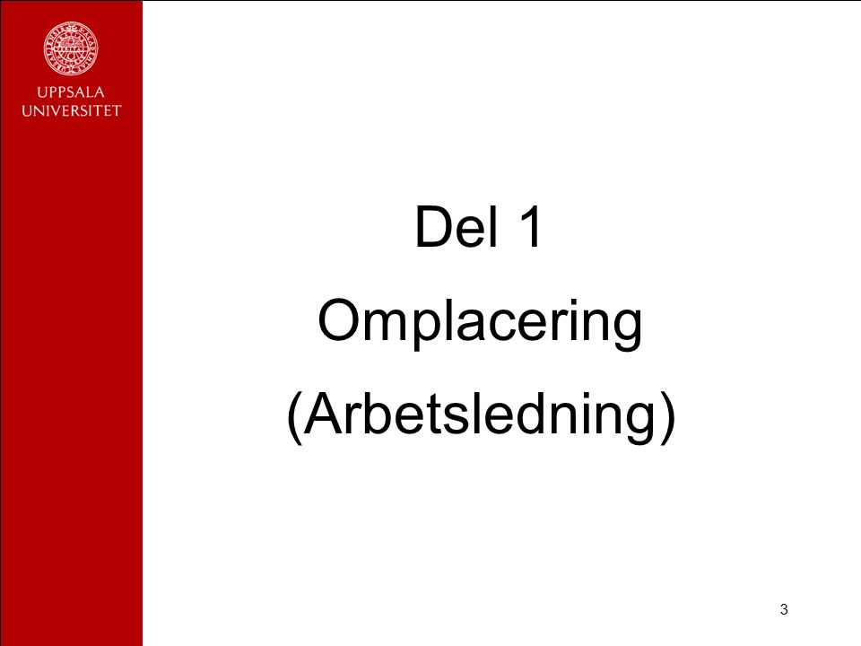 3 Del 1 Omplacering (Arbetsledning)
