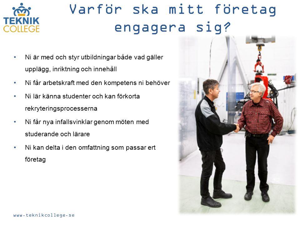 www.teknikcollege.se Varför ska mitt företag engagera sig.