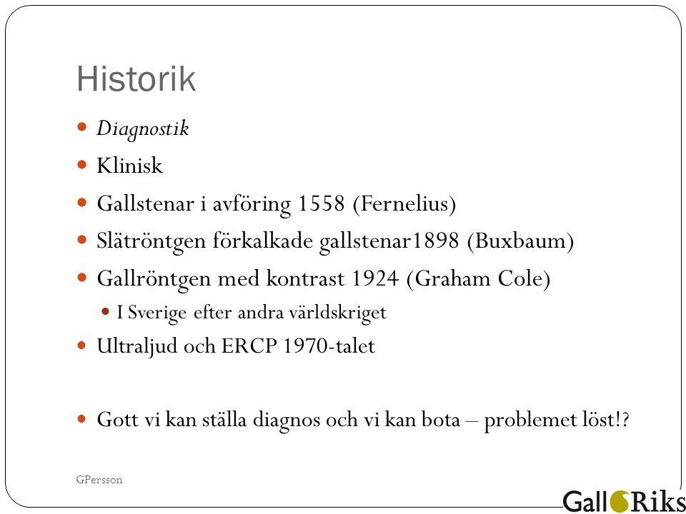Kolecystektomi i Sverige 1964 - 1995 GPersson