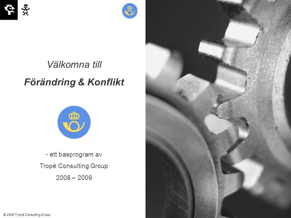 © 2009 Tropé Consulting Group Välkomna till Förändring & Konflikt - ett basprogram av Tropé Consulting Group 2008 – 2009