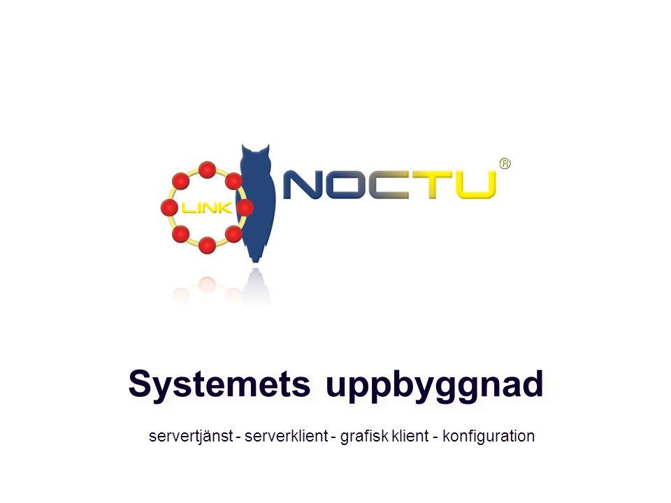 servertjänst - serverklient - grafisk klient - konfiguration Systemets uppbyggnad