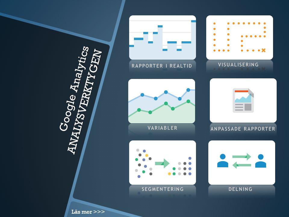 Google Analytics ANALYSVERKTYGEN Läs mer >>>