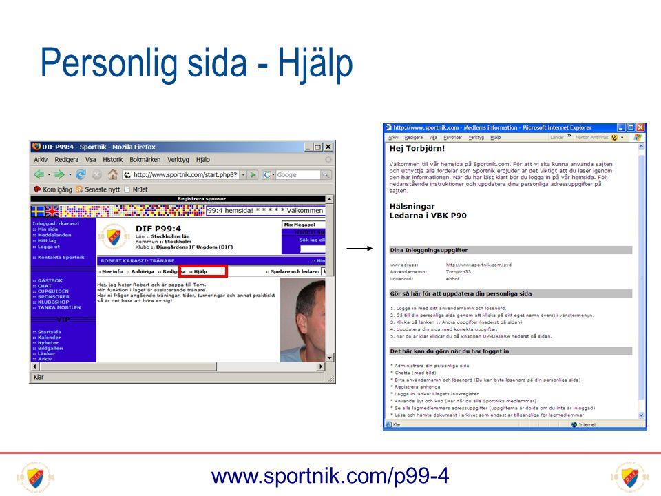 www.sportnik.com/p99-4 Personlig sida - Hjälp