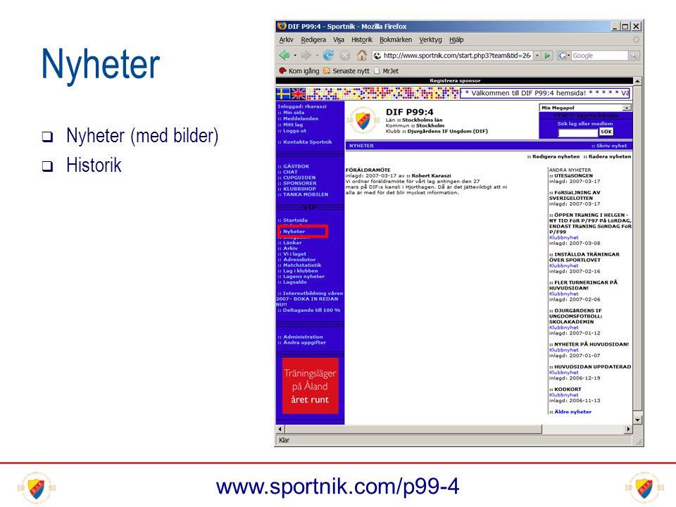 www.sportnik.com/p99-4 Nyheter  Nyheter (med bilder)  Historik
