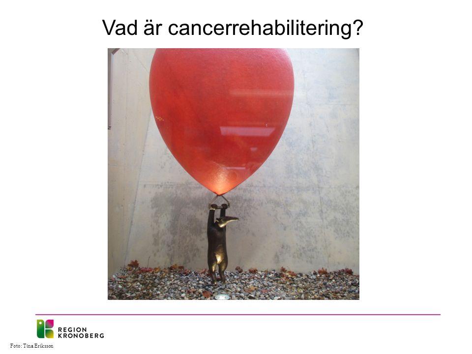 Foto: Tina Eriksson Vad är cancerrehabilitering
