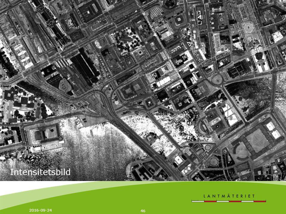 2016-09-24 47 Datamängder Varje leveransruta i storlek 2,5 x 2,5 km innehåller: Markmodellen i grid-format ~ 10 Mb i ESRI Ascii Grid ~ 35 Mb i Ascii Tabell Laserpunktmolnet i LAS-format ~ 100 - 300 Mb beroende på mängd av vegetation