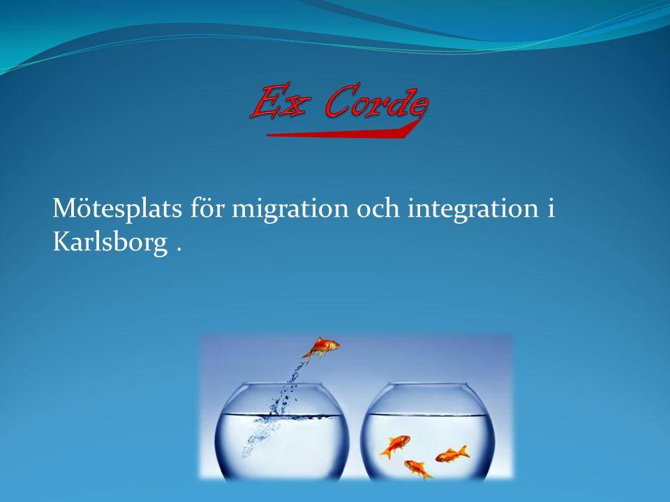 Mötesplats för migration och integration i Karlsborg.