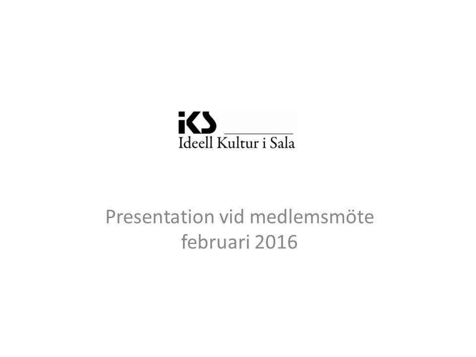 . Presentation vid medlemsmöte februari 2016