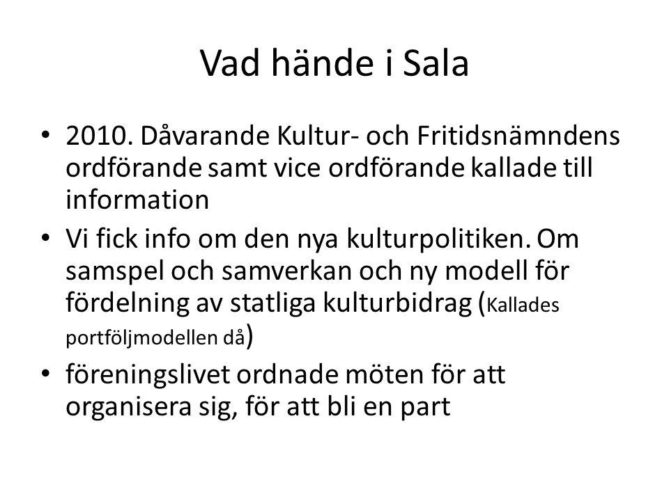 26 april 2011 bildades IKS Samma år 2011 sjösattes den nya Kultursamverkansmodellen (ersatte det som kallades portföljmodellen tidigare)