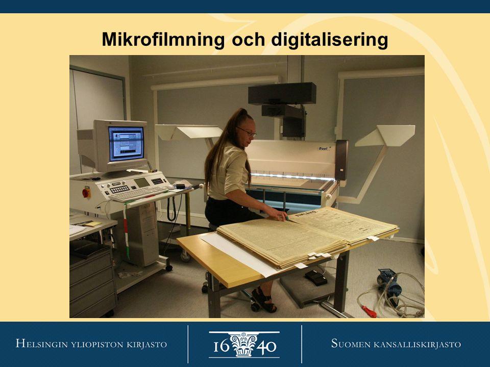 Mikrofilmning och digitalisering