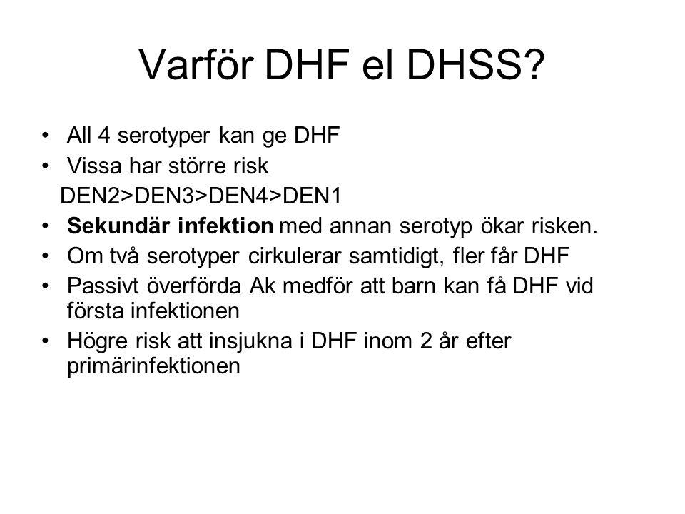 Varför DHF el DHSS.