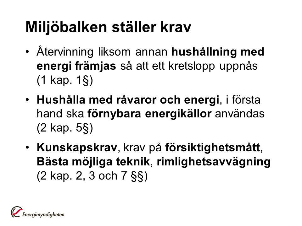 Miljöbalken ställer krav Tillsynsmyndigheten kontrollerar: Kunskap, egenkontroll (energikartläggning, åtgärdsplan) Åtgärder genomförs som är miljömässigt motiverade och ekonomiskt rimliga men behöver ej vara lönsamma (energihushållning) Martina Berg