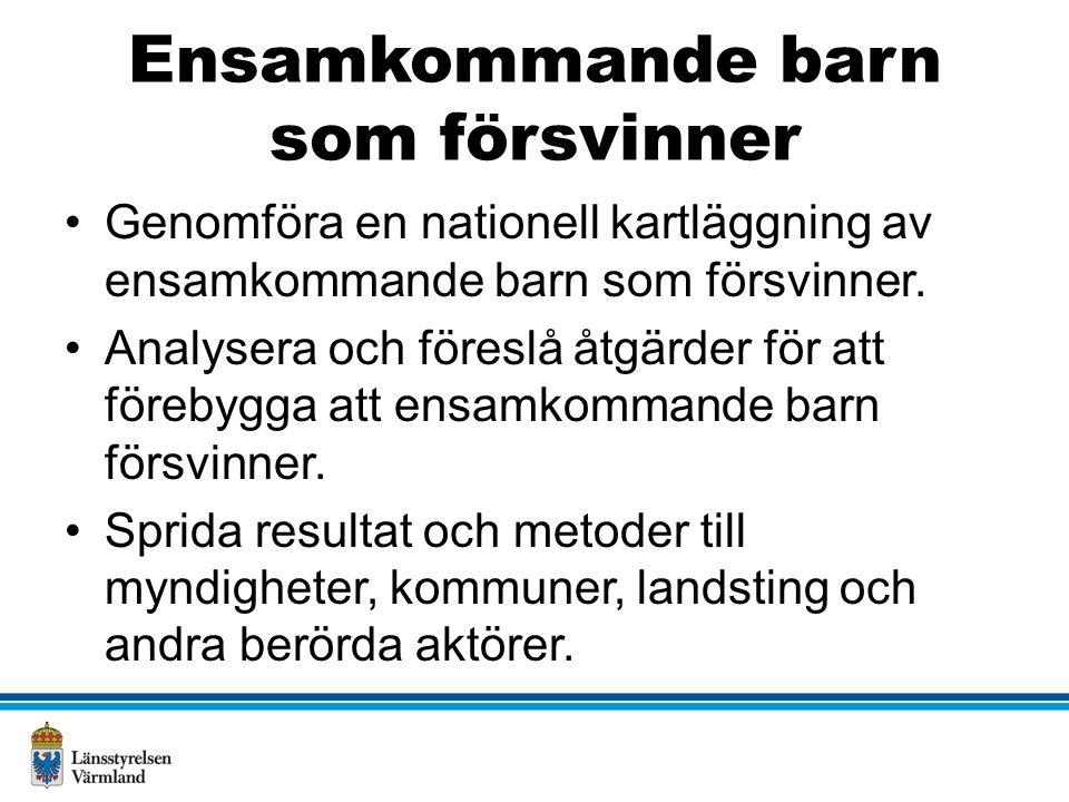 Kontaktuppgifter Maria Tapani Ekholm 010-224 73 46 maria.tapani.ekholm@lansstyrelsen.se Tanja Ekegren 010-224 73 26 tanja.ekegren@lansstyrelsen.se www.lansstyrelsen.se/varmland