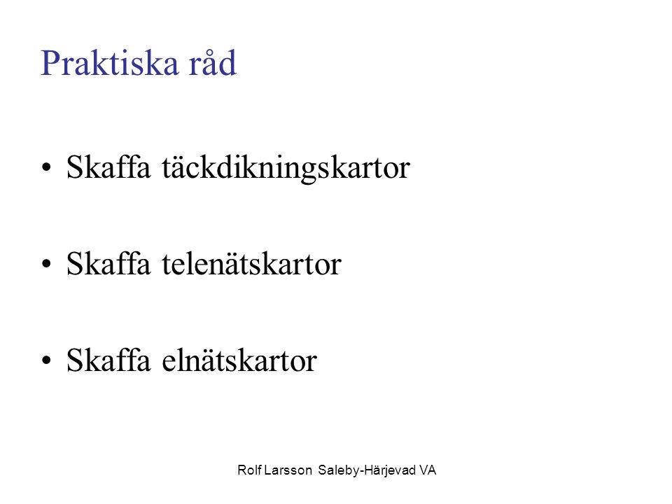 Rolf Larsson Saleby-Härjevad VA Praktiska råd Skaffa täckdikningskartor Skaffa telenätskartor Skaffa elnätskartor