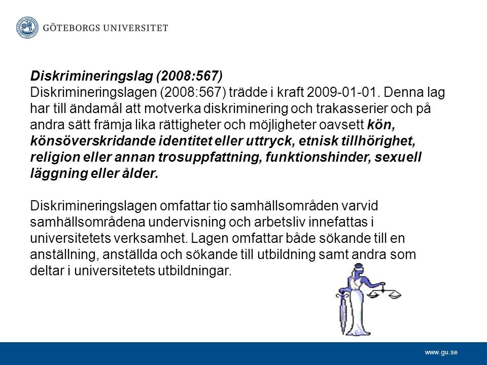 www.gu.se Ansvar Rektor har det yttersta ansvaret för att lagen efterlevs på Göteborgs universitet.