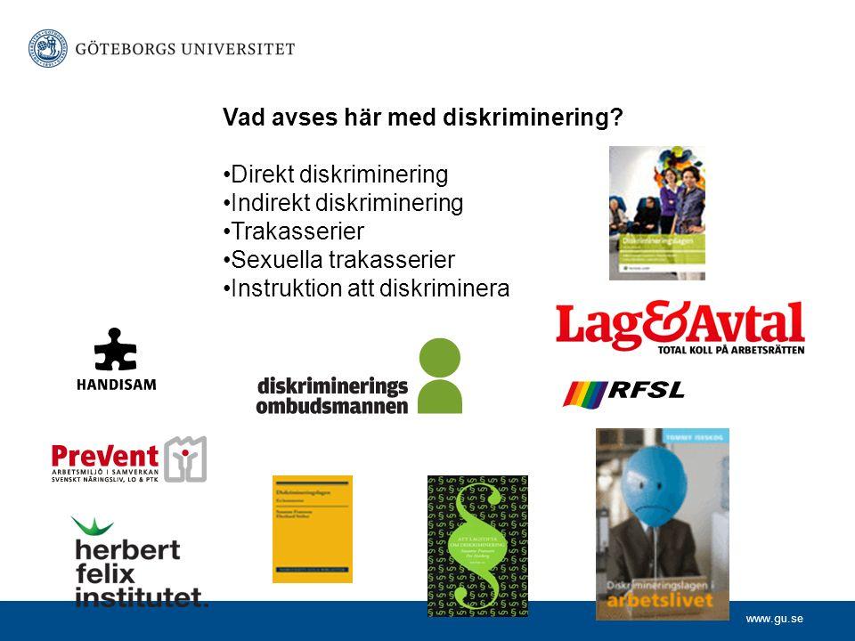 www.gu.se Vad avses här med diskriminering.