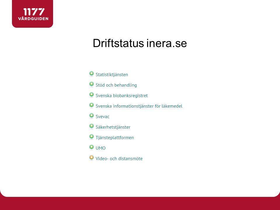 Driftstatus inera.se