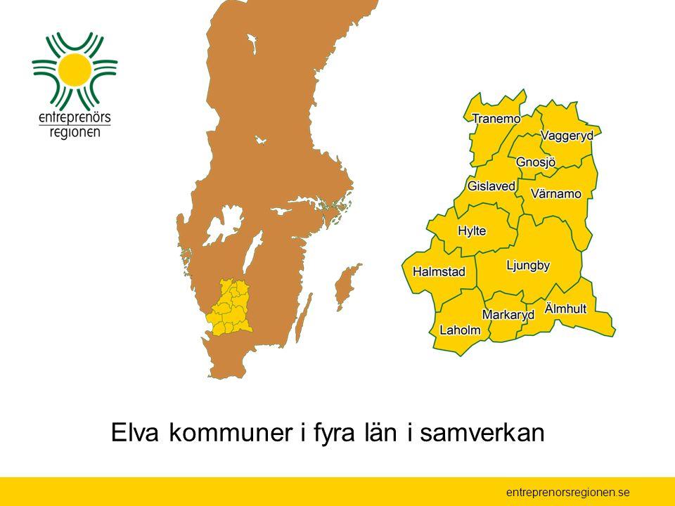 Elva kommuner i fyra län i samverkan