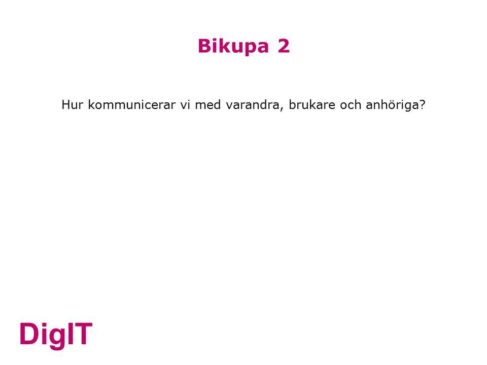 DigIT Bikupa 2 Hur kommunicerar vi med varandra, brukare och anhöriga