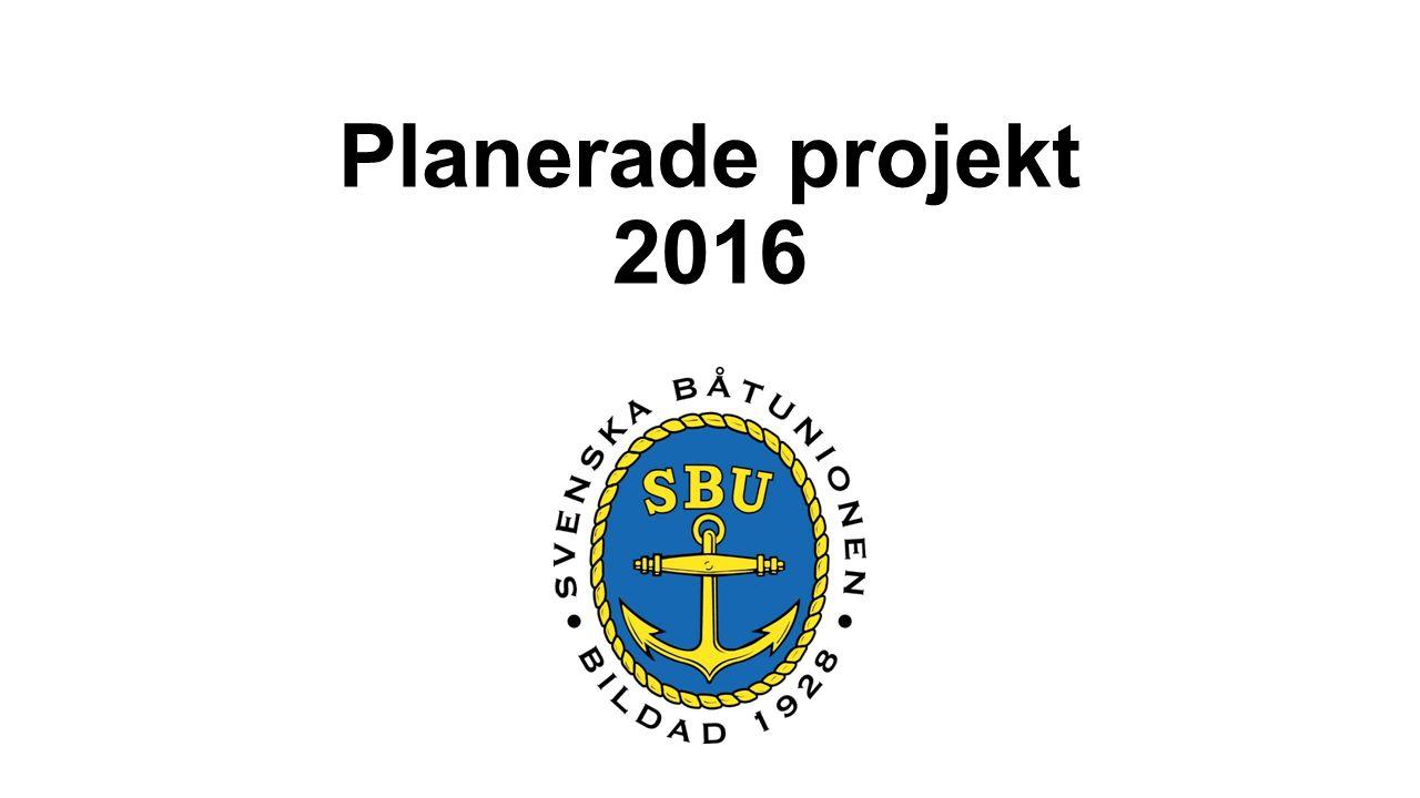 Planerade projekt 2016