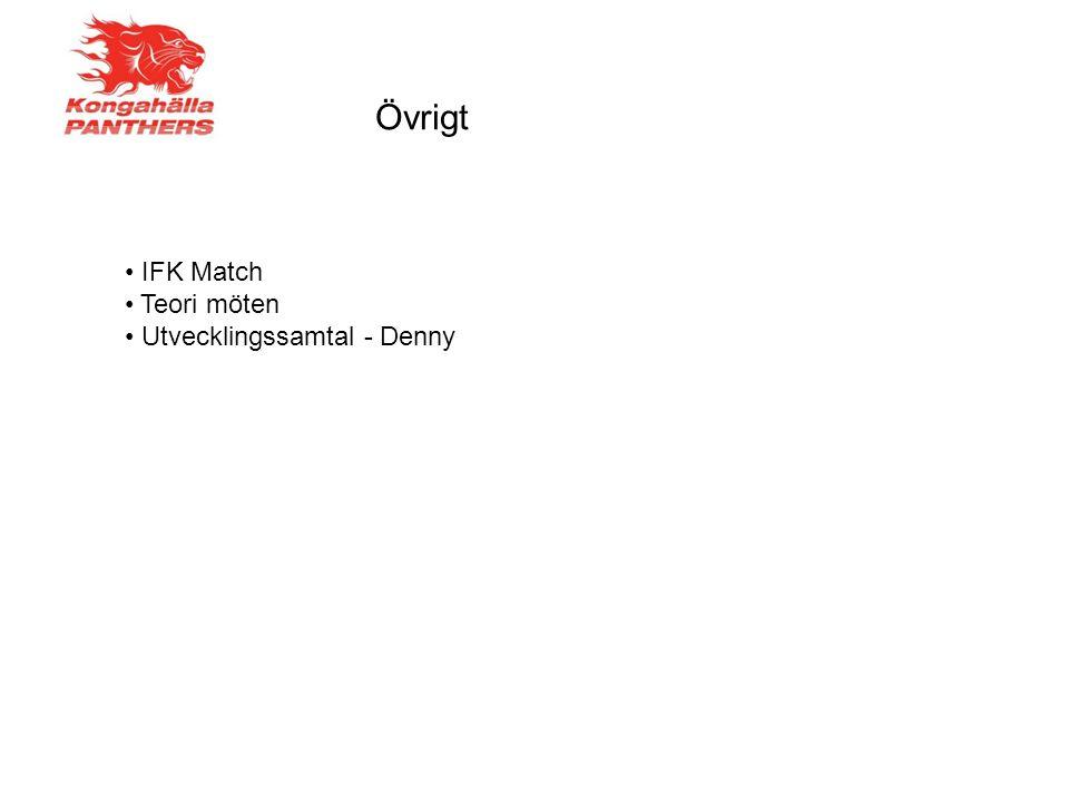 Övrigt IFK Match Teori möten Utvecklingssamtal - Denny