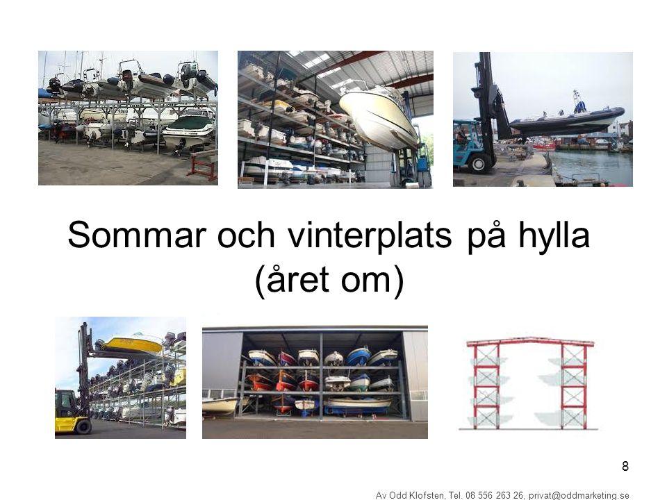 8 Av Odd Klofsten, Tel. 08 556 263 26, privat@oddmarketing.se Sommar och vinterplats på hylla (året om)