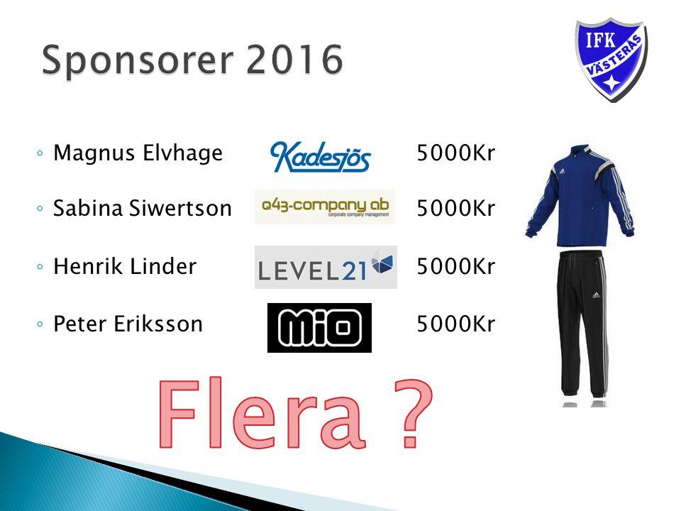 ◦ Magnus Elvhage5000Kr ◦ Sabina Siwertson 5000Kr ◦ Henrik Linder 5000Kr ◦ Peter Eriksson5000Kr