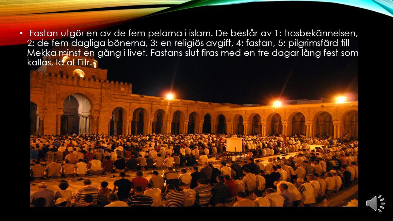 VAD ÄR RAMADAN? Ramadan är den nionde månaden i den muslimska månkalendern. När det är ramadan så brukar de troende att fasta, det betyder att de vark