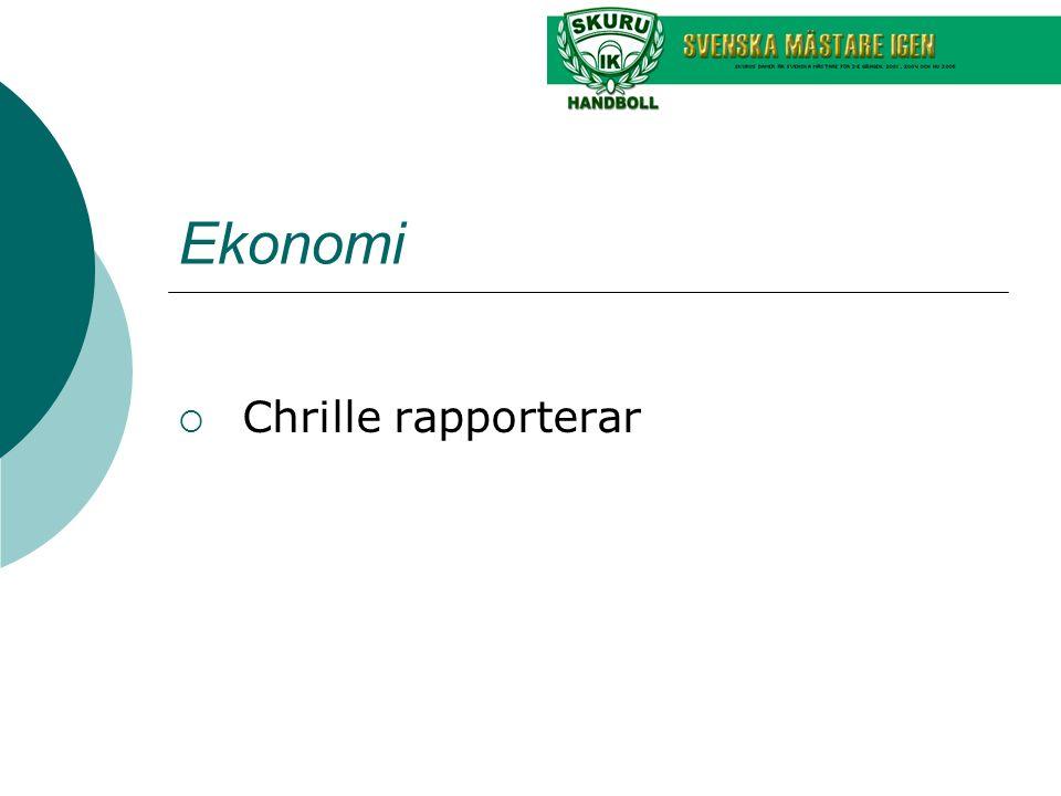 Ekonomi  Chrille rapporterar