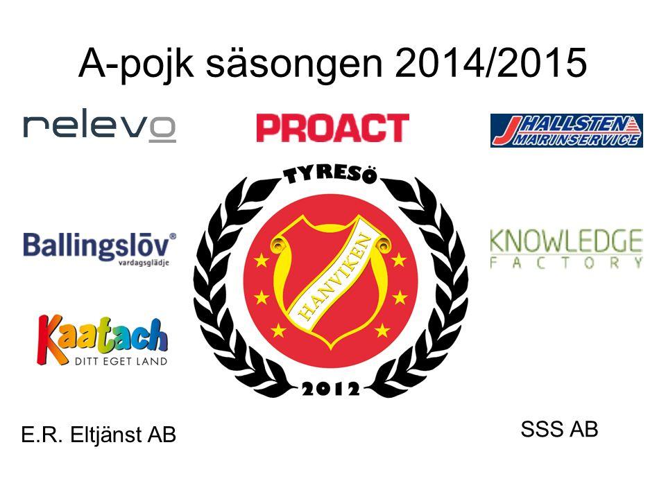 A-pojk säsongen 2014/2015 E.R. Eltjänst AB SSS AB