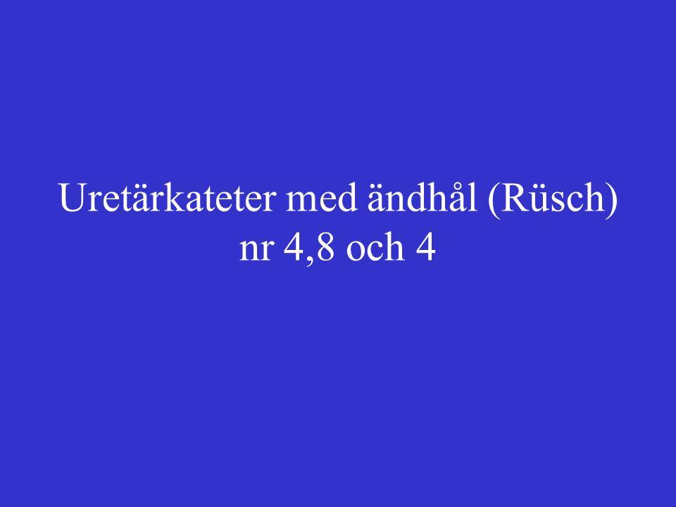 Uretärkateter med ändhål (Rüsch) nr 4,8 och 4