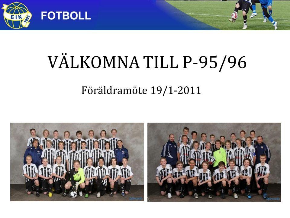 VÄLKOMNA TILL P-95/96 Föräldramöte 19/1-2011