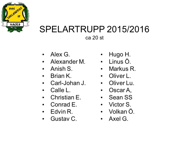 SPELARTRUPP 2015/2016 ca 20 st Alex G. Alexander M.