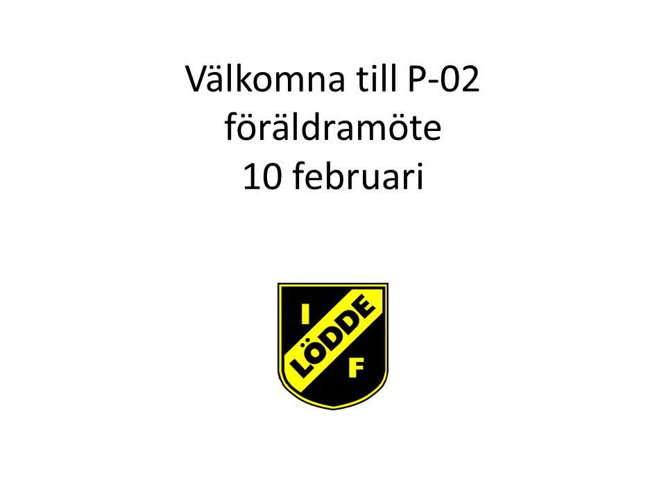 Välkomna till P-02 föräldramöte 10 februari