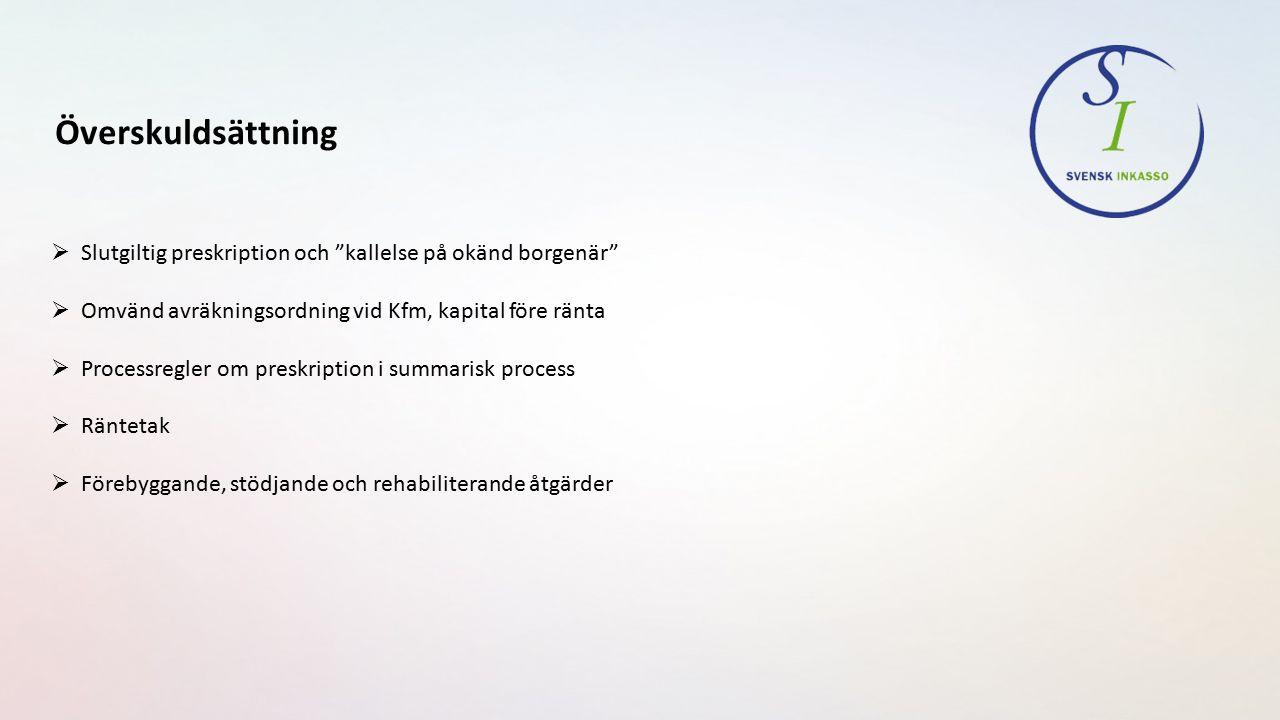 Överskuldsättning  Ränte- och kostnadstak samt en civilrättslig sanktion vid bristande kreditprövning, - Vissa konsumentkrediter, Dir 2015:43, sep.