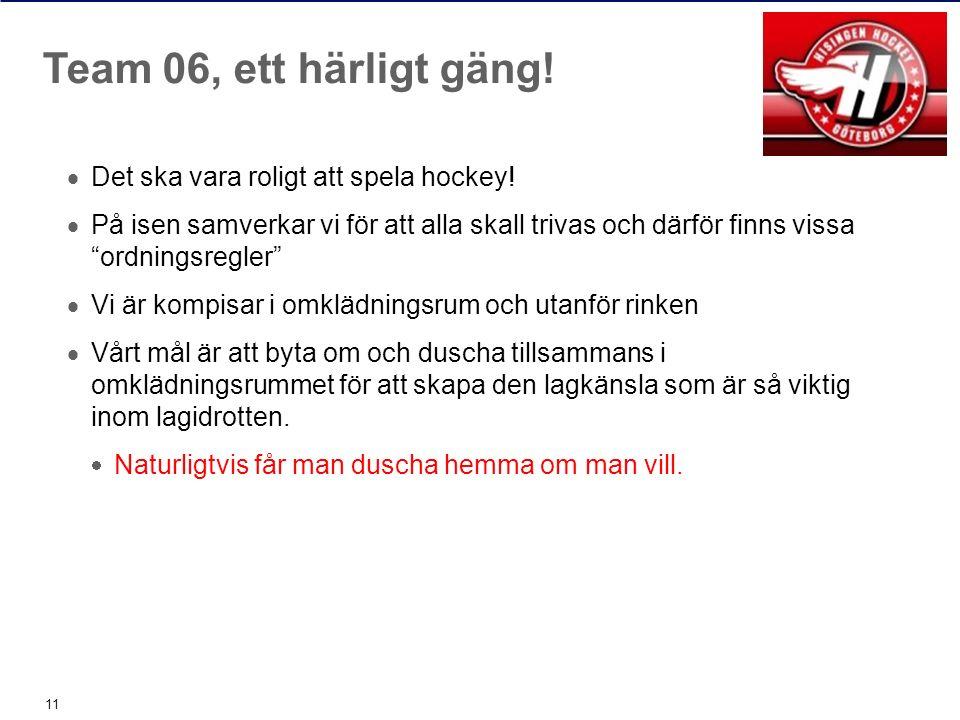  Det ska vara roligt att spela hockey.