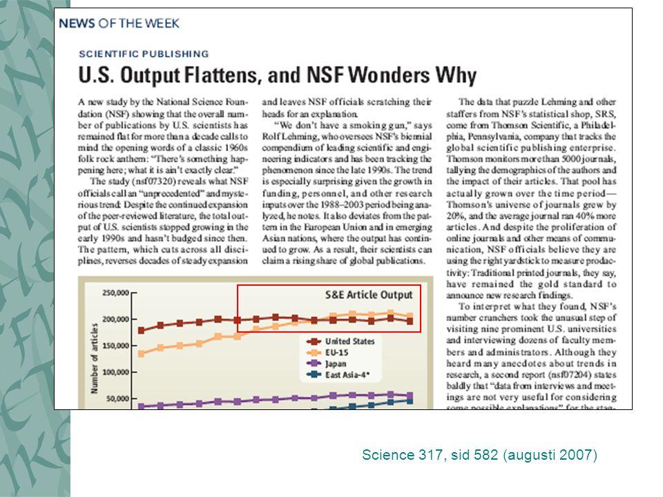 Science 317, sid 582 (augusti 2007)