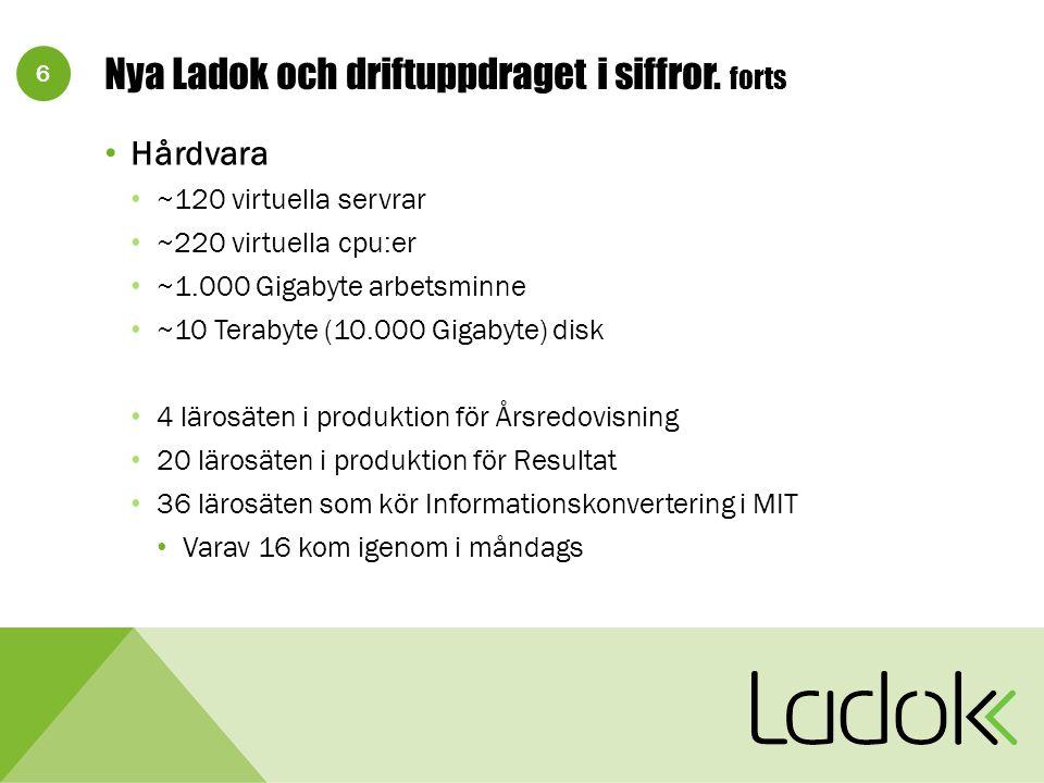 6 Nya Ladok och driftuppdraget i siffror.