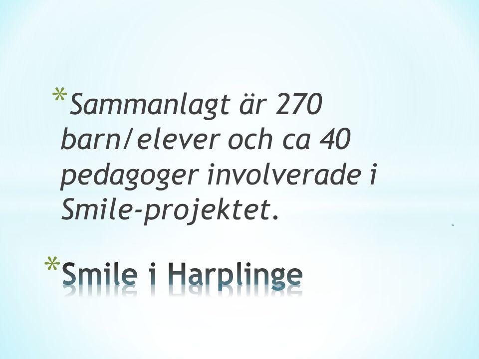 * Sammanlagt är 270 barn/elever och ca 40 pedagoger involverade i Smile-projektet.
