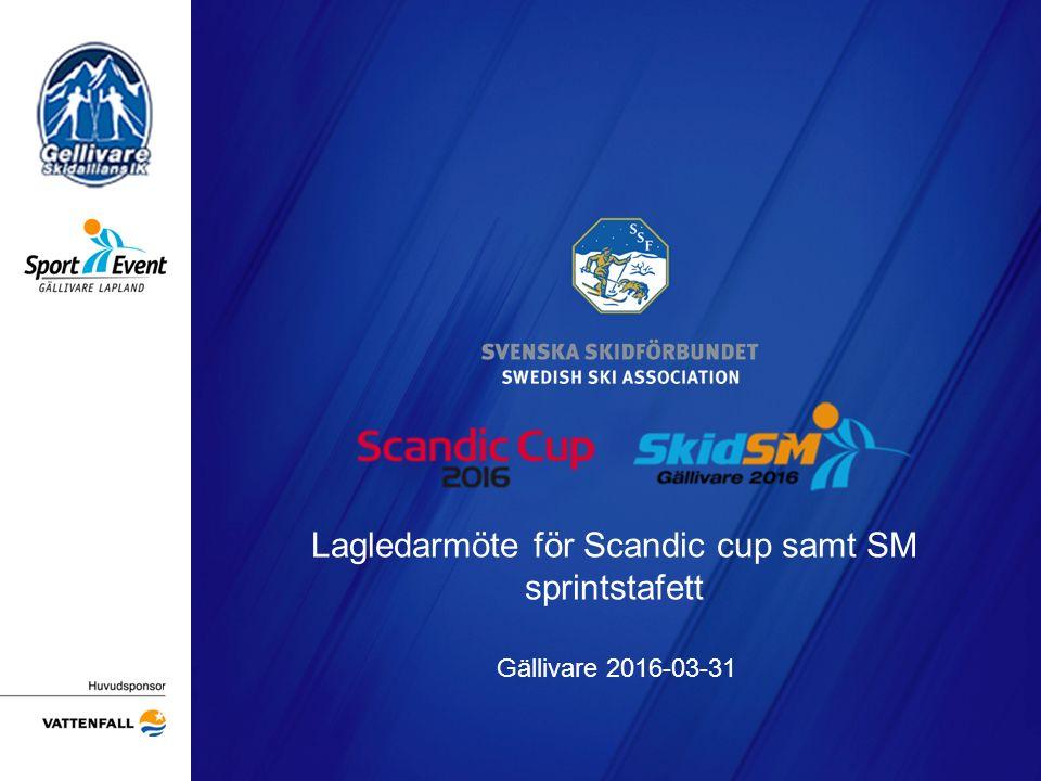 Lagledarmöte för Scandic cup samt SM sprintstafett Gällivare 2016-03-31